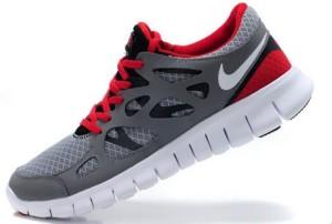 Nike Free Run 2 Homme Cool Gris Noir Rouge