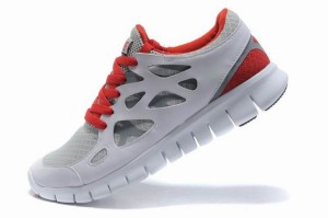 Nike Free Run 2 Homme Cool Gris Rouge