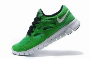 Nike Free Run 2 Homme Chanceux Vert Noir Blanc
