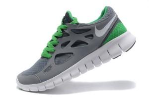 Nike Free Run 2 Homme Cool Gris Chanceux Vert Blanc