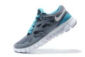 Nike Free Run 2 Homme Cool Gris Bleu Blanc