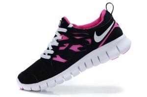 Nike Free Run 2 Femme Noir Blanc Rose