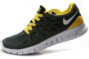 Nike Free Run 2 Femme Sombre Gris Jaune Blanc