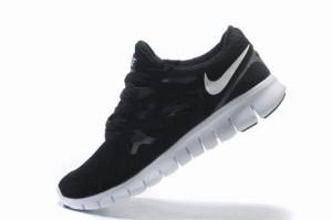 Nike Free Run 2 Femme Noir Blanc