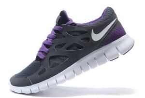 Nike Free Run 2 Femme Sombre Gris Pourpre Blanc