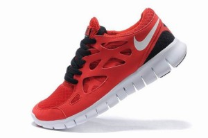 Nike Free Run 2 Femme Rouge Noir Blanc