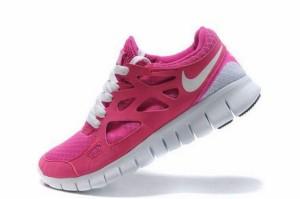 Nike Free Run 2 Femme Rose Blanc