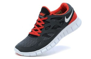 Nike Free Run 2 Femme Sombre Gris Rouge Blanc