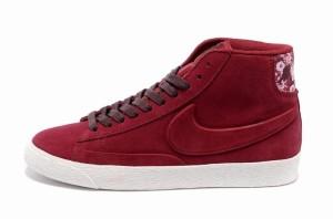 Nike Blazer Hautes Femme Daim VT Gym Rouge Bourgogne