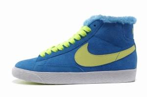 Nike Blazer Hautes Femme Vintage Daim Laine Royal Volt????????????????????????????????????????????????????