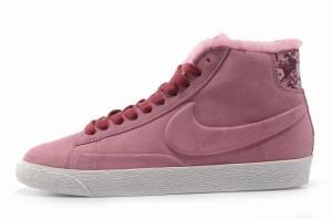 Nike Blazer Hautes Femme Daim VT Laine Rose Bourgogne