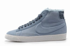 Nike Blazer Hautes Femme Daim VT Laine Bleu Clair