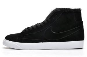 Nike Blazer Hautes Femme Daim VT Laine Noir Noir